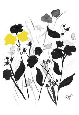 Yellow Silouette 2 by Beverly Dyer