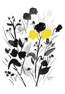 Yellow Silouette I by Beverly Dyer