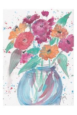 Zinnia Bouquet by Beverly Dyer