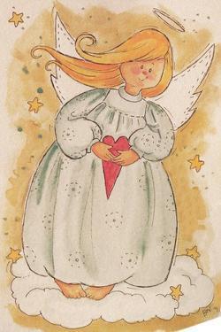 Angel Holding a Heart by Beverly Johnston