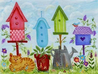 Birdhouses in Garden