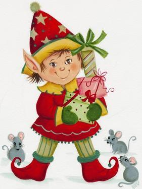 Elf with 3 Mice by Beverly Johnston
