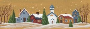 Snow Covered Village by Beverly Johnston