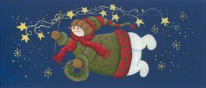 Snowman, Stars, Snow Flakes by Beverly Johnston