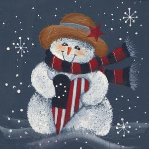 Snowman with Big Heart by Beverly Johnston