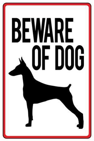 Beware of Dog Sign Plastic Sign