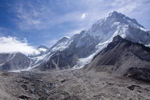 The Snow Capped High Altitude Peaks Surrounding the Khumbu Icefall and Mt. Everest Base Camp. Himal by Beynaz Mistry