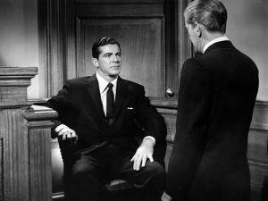 BEYOND A REASONABLE DOUBT, 1956 directed by FRITZ LANG Dana Andrews (b/w photo)
