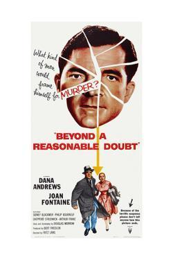 Beyond a Reasonable Doubt, Top: Dana Andrews; Bottom: Dana Andrews, Joan Fontaine, 1956