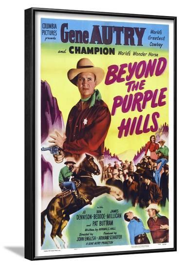 Beyond the Purple Hills--Framed Art Print