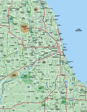 Greater Chicago Metropolitan Area Map by BFordyce