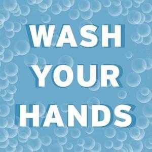 Bathroom Signs - Bubbles - Wash Your Hands by BG^Studio