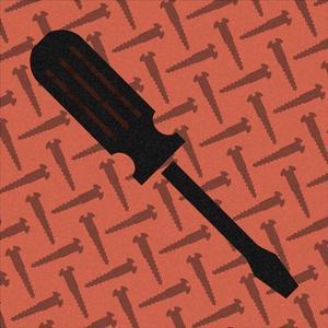 Hand Tools - Flathead Screwdriver and Screws by BG^Studio