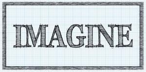 Sketched Words - Imagine by BG^Studio