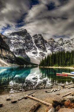 Scenic Mountain Landscape of Moraine Lake and the Valley of Ten Peaks, Banff National Park Alberta by BGSmith