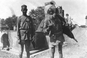 Bhistis, or Water Carriers, Agra, India, 1916-1917