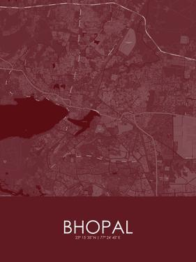 Bhopal, India Red Map