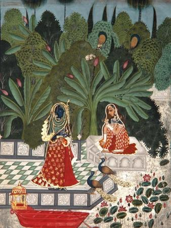 Krishna Uses a Ruse to Meet His Beloved, 1781 by Bhoya