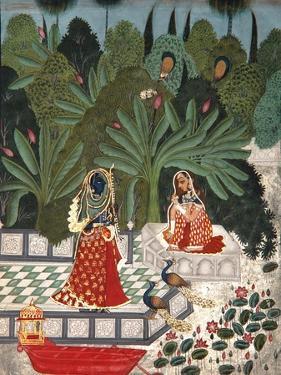 Krishna Uses a Ruse to Meet His Beloved, 1781 by Bhoya