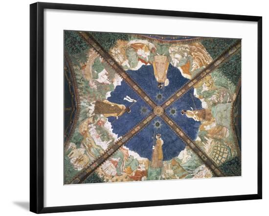 Bianca Pellegrini's Journey to Castle of Pier Maria Rossi on Vault of Golden Chamber-Benedetto da Maiano-Framed Giclee Print