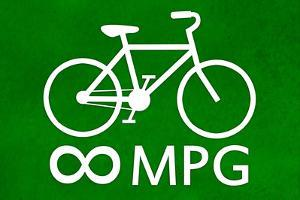 Bicycle Infinity MPG Plastic Sign