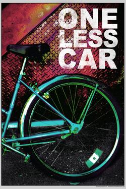 Bicycle - One Less Car Poster