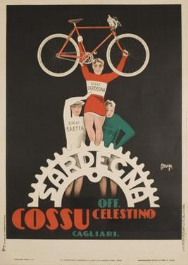 Bicycles Cossu Sardegna, Italian Advertising Poster