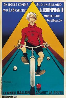 Bicyclette Sur Un Billard
