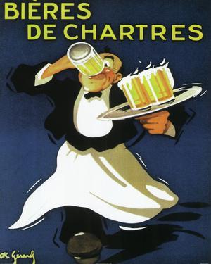 Bieres De Chartres Vintage Ad Art Print Poster