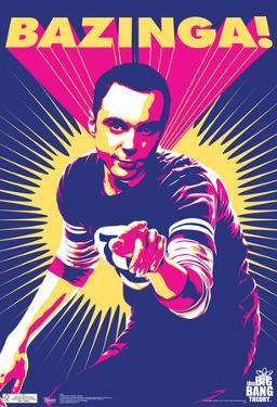 Big Bang Theory Sheldon Bazinga Television Poster