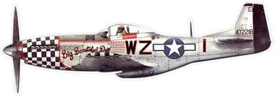 Big Beautiful Doll P-51 Steel Sign