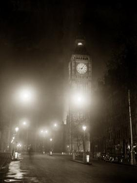 Big Ben and the Houses of Parliament Floodlit for the Opening of the Festival of Britain, 1951