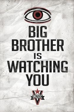 Big Brother is Watching You 1984 INGSOC Political
