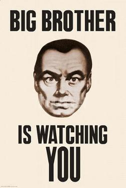 Big Brother is Watching You 1984 Poster