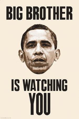 Big Brother is Watching You Obama Poster