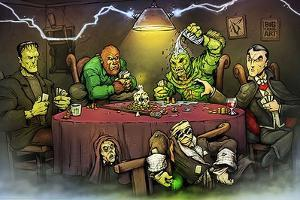 Monsters Playing Poker by Big Chris Art