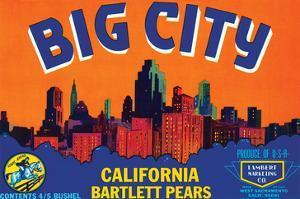 Big City California Bartlett Pears