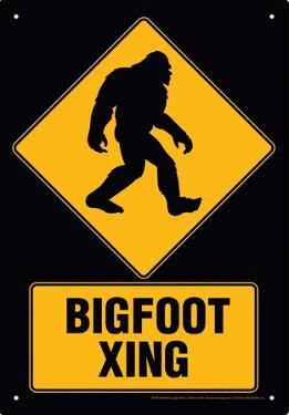 Big Foot Xing Tin Sign