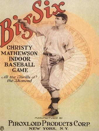 Big Six: Christy Mathewson Indoor Baseball Game, c.1910