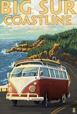 Big Sur, California - Vw Coastal Drive