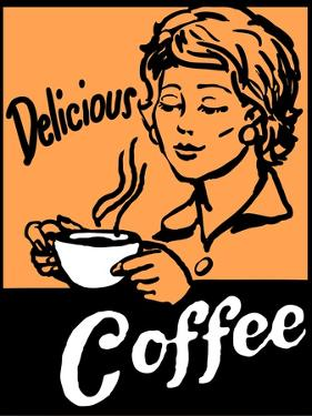 Delicious Coffee Sign by Bigelow Illustrations