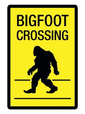 Bigfoot Crossing Sign Art Poster Print