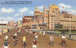 Bikes on Boardwalk, Atlantic City, New Jersey