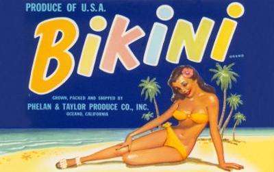 Bikini Fruit Crate Label