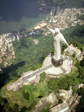 Aerial of Corcovado Christ Statue and Rio de Janeiro, Brazil by Bill Bachmann