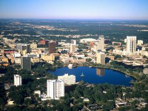 Aerial Skyline, Orlando, Florida by Bill Bachmann
