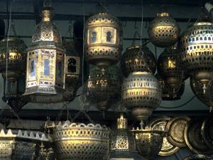 Artwork of Moroccan Brass Lanterns, Casablanca, Morocco by Bill Bachmann