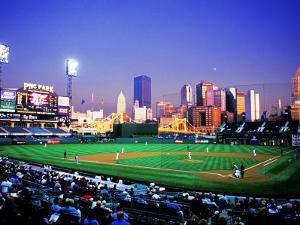 Baseball Game at Heinz Stadium, Pittsburgh, Pennsylvania, USA by Bill Bachmann