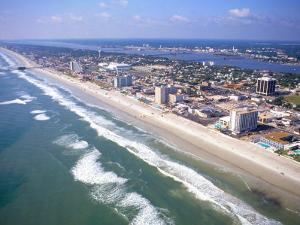 Beach Aerial, Daytona Beach, Florida by Bill Bachmann
