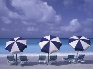 Beach Chairs and Ocean, U.S. Virgin Islands by Bill Bachmann